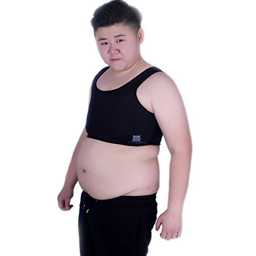 BaronHong Tomboy Trans Lesben Netz Brust Binder Korsett Plus Size Short Tank Top (schwarz, ()