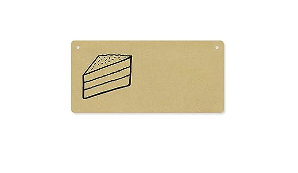 Azeeda Kuchen Scheibe Holzwand Plakette Turschild Dp00003943