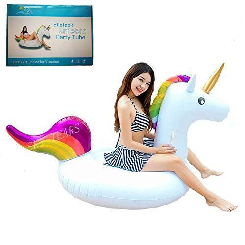 Unicorno gonfiabile, gonfiabile unicorno piscina galleggiante adatto per bambini e adulti giocattolo in mare