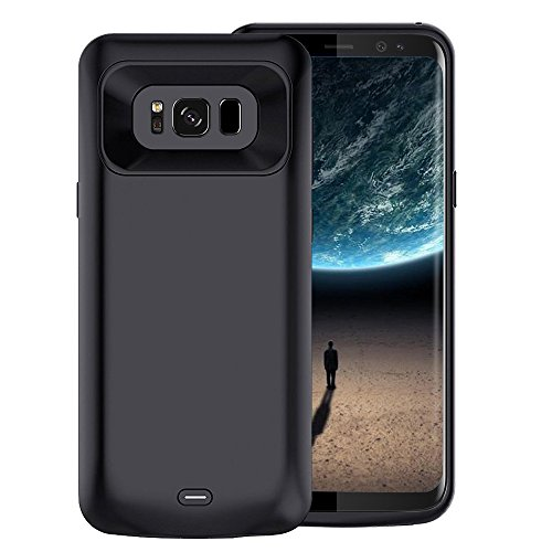 Per Samsung Galaxy S8 custodia caricabatterie, batteria 5000 mAh ricaricabile Slim estesa, custodia protettiva Portable battery pack Power Bank ricarica custodia per Samsung Galaxy S8 (14,7 cm) -nero