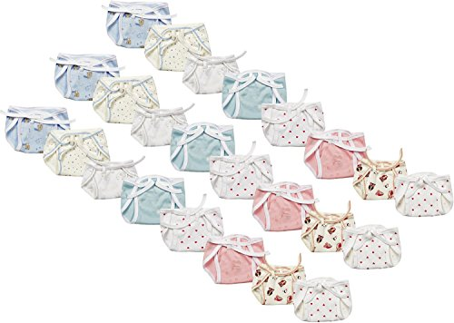 First Kids Step Newborn baby Hosiery cotton cloth nappies pack of 24 pcs (multi)(0-6 months)