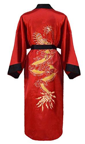 Herren japanischer Morgenmantel Kimono umkehrbar - 4