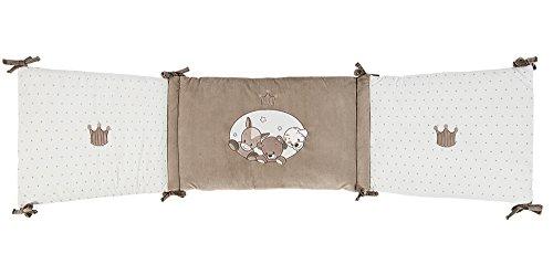 Nattou Tour de lit Bébé 70x140 cm et 60x120 cm, Fille et Garçon, beige - Max, Noa et Tom