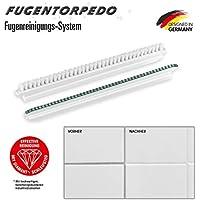 Fugentorpedo 08885 Ersatz-Set Fugenbürste & 1x Schleifsteg 3mm, Schwarz, One Size