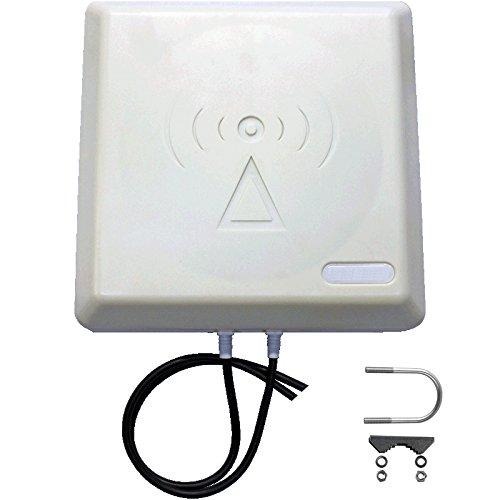 LTE Hochleistung Panel Antenne 9dBi GEWINN 800MHz inklusive 5Meter Twin-Antennenkabel passend für Telekom , Vodafone, Huawei ...