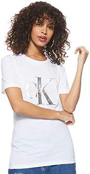 Calvin Klein Jeans Women's Metallic Monogram Slim