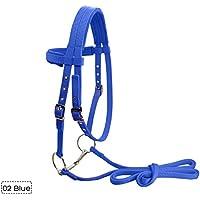Kinbelle - Suave Puente de Caballo Completo con Reina Fija Resistente Accesorios de Equitación para Caballo, Azul