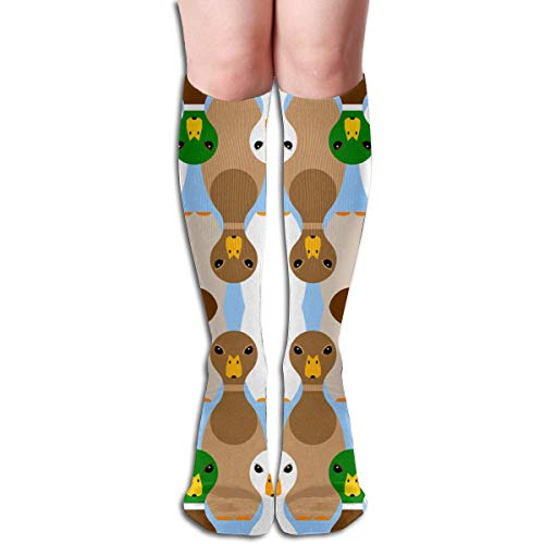 Niedliche Bowling Ente Design elastische Mischung lange Socken Kompression Kniestrümpfe (50cm) für den Sport