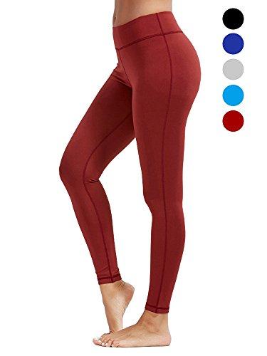 dh Garment Sport leggings Damen hohe Taille Yoga Hose mit Bundtasche (Größe M) (Hosen Gefütterte Seide)