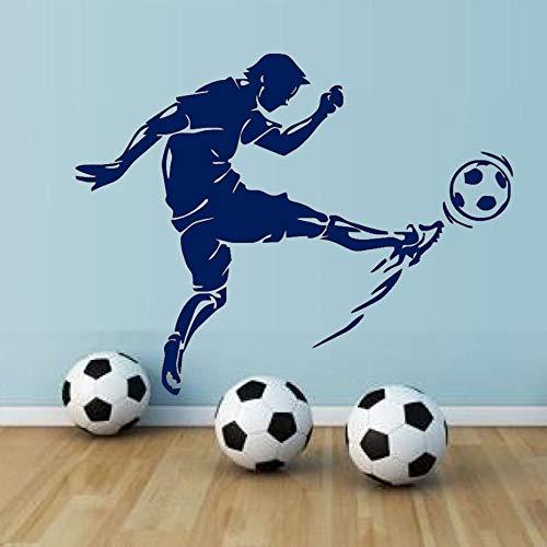 Etiqueta pared Calcomanías vinilo Atleta fútbolpara