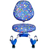 GGQF Student Chair Child Learning Homework Reading Adjustable Lift Chair Back Swivel Chair,Rosa