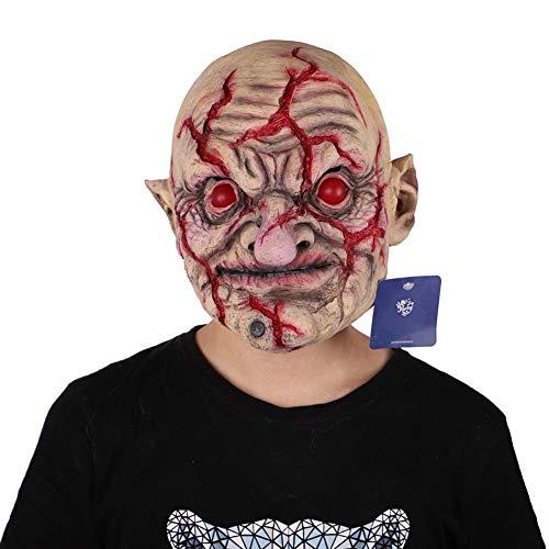 Für Kostüm Charakter Paare - OOCO Maske Halloween Cosplay Horror Vollgesichtsmaske Scary Movie Charakter Erwachsene Cosplay Kostüm Requisiten Spielzeug,C