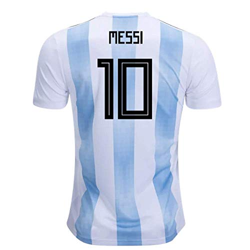 2018-19 Argentina Home Football Soccer T-Shirt Camiseta (Lionel Messi 10) - Kids