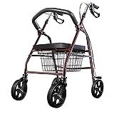 Handwagen Walker Rollator/Gehhilfe / Walker Rollator für ältere Einkäufe/Trolley für ältere Senioren Helfen Warenkorb Light Faltung Walker Rollator mit Rädern mit Sitzwagen Walker
