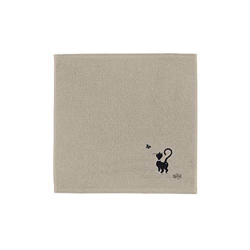 Carré éponge Dubout Chat Papillon ficelle 50 x 50 cm Torchons & Bouchons