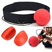 VVHOOY Reflex Boxing Ball,Punching Ball,Portable Pro Boxing Equipment with Adjustable Headband for Fitness,MMA,Punch Accuracy,Hand Eye Coordination,Train Boxing for Kids//Adult