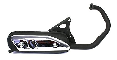 Auspuff Standard für stehende Minarelli Motoren Aprilia SR50, MBK Booster, Track, Yamaha BWS, BW, Spy, Zest Bump