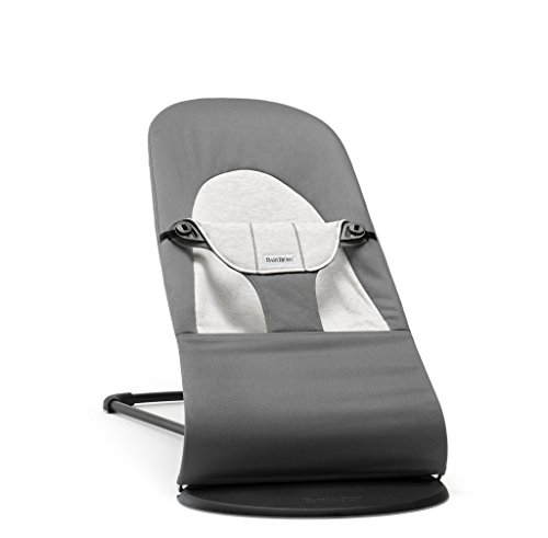 BABYBJÖRN Transat Balance Soft, Coton/Jersey, Gris foncé/Gris