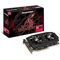 PowerColor Red Dragon Radeon RX 580 Radeon RX 580 8GB GDDR5 - Tarjeta gráfica (Radeon RX 580, 8 GB, GDDR5, 256 bit, 4096 x 2160 Pixeles, PCI Express 3.0)