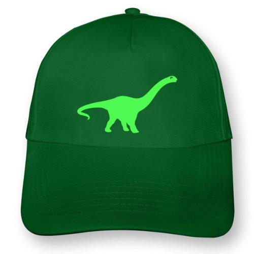 plot4u Dinosaurier Apatosaurus Kinder Kappe für Jungen und Mädchen Beechfield Junior Original 5 Panel Cap OneSize grasgrün/neon grün