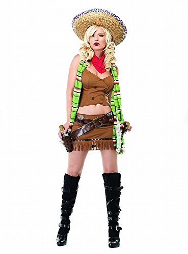 Leg Avenue - Sexy Mexikanerin Kostüm - 83532 - S/M Cowgirl Halloween-outfits