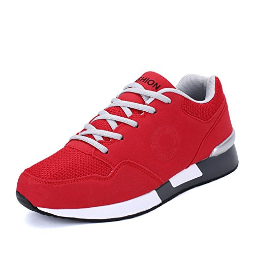 Chaussure de sport randonné antichoc pour amoureux adulte mixte homme femme basket mode cross-country exercice fitness sneakers Rouge