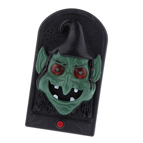 Sharplace Kunststoff Türklingel Klingelplatte Klingelknopf mit Halloween Stil Figur - Hexe