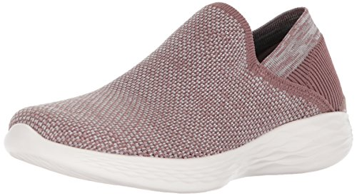 Skechers Damen You - Rise Slip On Sneaker, Pink (Mauve), 38 EU - Rise Fleece
