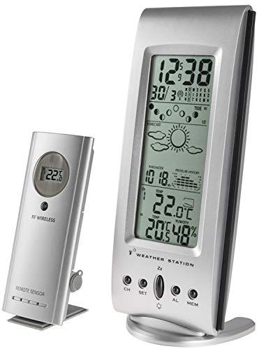 Zeit-Bar Funk-Wetterstation (Temperatur, Luftdruck, Luftfeuchtigkeit) mit Vorhersage