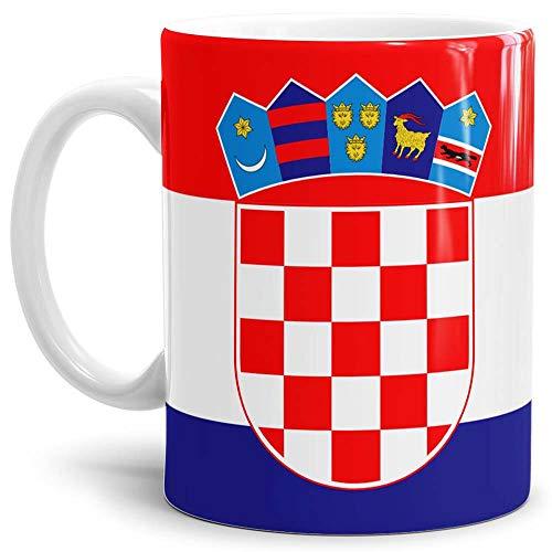 Tassendruck Flaggen-Tasse Kroatien - Kaffeetasse/Mug/Cup - Qualität Made in Germany