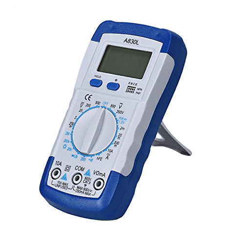 Multimeter LCD Digital Multimeter Amperemeter Voltmeter Ohmmeter Aktuelle Tester - Ularmo (weiß)