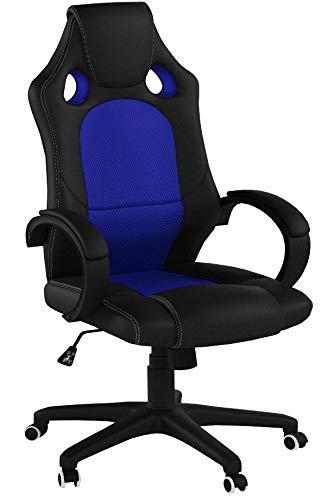 regalosMiguel - Sillas Gaming - Silla Pro - Azul y Negro