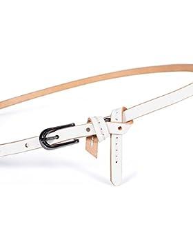 Cinturón Decorativo De Moda/Simple Cinturón Todo A Juego-blanco 115cm(45inch)