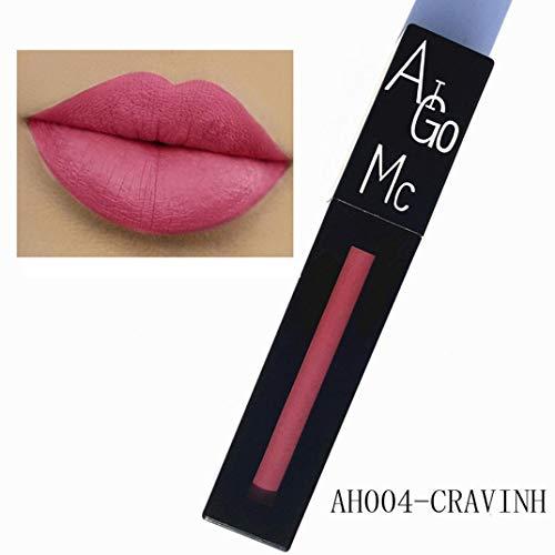 YunYoud Neue Mode Lippenstift Kosmetik Frauen Sexy Lippen Matte Anhaltende Lipgloss lippenstift farben matt bordeaux rot dunkelroter make up dunkler guter matte lipstick -