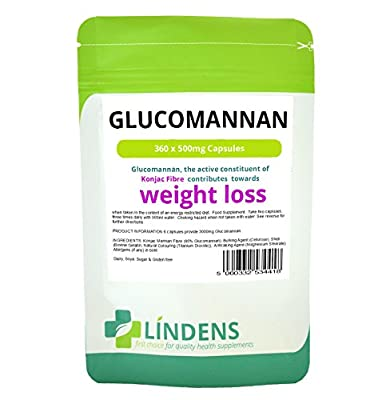 Glucomannan 500mg (Konjac Fibre) 360 Capsules