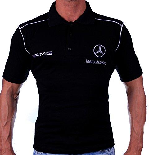 Mercedes Benz AMG Polo Camiseta Necklace Logotipo del Bordado Embroide