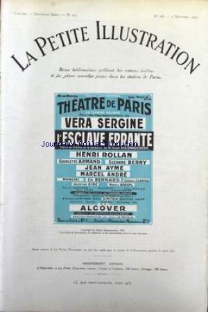 PETITE ILLUSTRATION THEATRE (LA) [No 168] du 03/11/1923 - THEATRE DE PARIS - L'ESCLAVE ERRANTE - H. KISTEMAECKERS - V. SERGINE - H. ROLLAN - G. ARMAND - S. BERNY - J. AYME - M. ANDRE - MANCINI - CH. BERNARD - G. CLARINS - V. RIBE - M. BREGYL - DIMITRIA - ALCOVER.