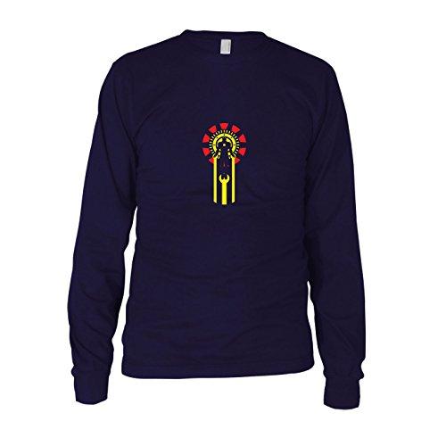 Iron Logo - Herren Langarm T-Shirt, Größe: XXL, ()