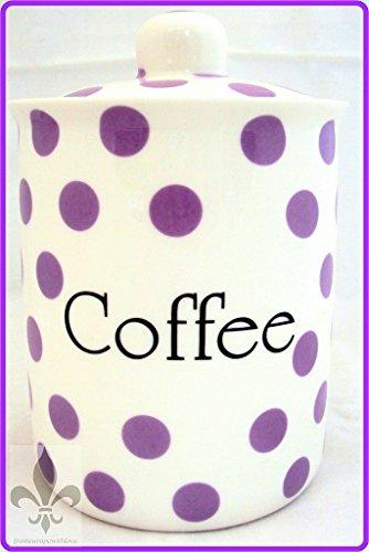 Violet Pois Boîte à café en porcelaine Fine Boîte de rangement pour café lavande dans les U. K.-gratuite