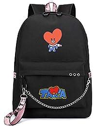 Fanmuran KPOP Exo WANNAONE GOT7 Twice Blackpink Mochila de Carga USB Bolso de Escuela Mochila Hombro