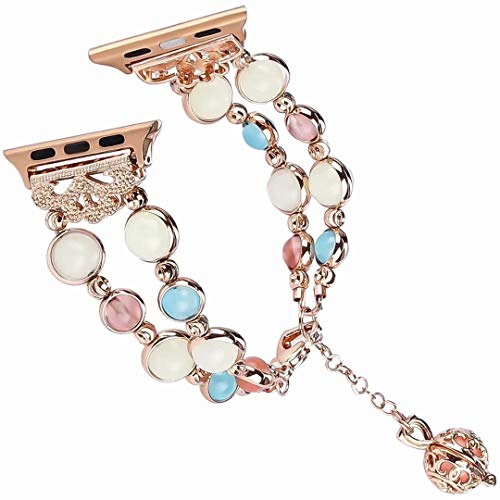 df4e1859db6 3C-LIFE 40mm Charming Jewelry Bracelet Watch Band, Rhinestone Beaded Pearl  Women Watch Band