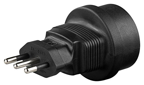 adaptare 50004 Reise-Adapter Gerät mit Schuko-/Euro-Stecker an 3-polig Italien-Steckdose Typ L