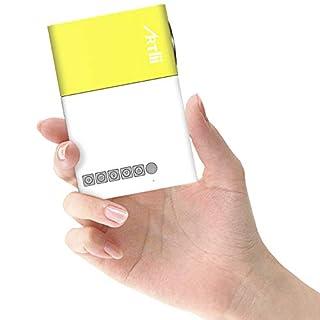 Artlii Mini Projecteur, LED Portable Projecteur avec USB-SD-AV-HDMI pour Loisirs (Maison Film Theatre,Video,Camping,Jeu)