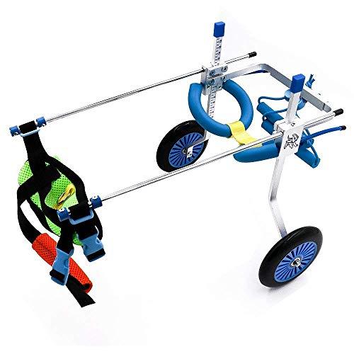PLDDY Haustier Tasche 2 Räder Dog Cart Wheels Dog Wheelchair - Tierarzt zugelassen - Rollstuhl für Hinterbeine Verstellbares Haustier (größe : S)