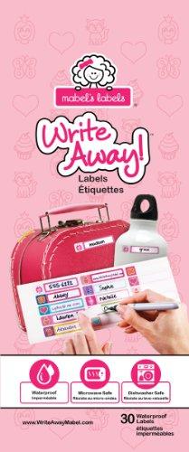 Mabel's Labels ML-876720000039 Write Away Abziehen und Aufkleben - Etiketten für Mädchen, 30 er pack, pink