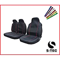 CITROEN RELAY RELAY 06 - S-tech | Stylish Durable Heavy Duty | Black Van Seat Covers Red Piping 2+1 With FREE S-TECH PEN preiswert