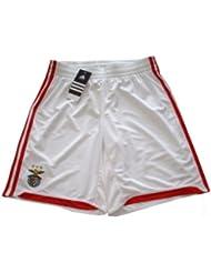 E84299 Pantalón corto para niño, diseño del equipo del Benfica, color blanco (2010–2011), talla: 13años