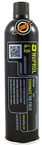 First and Only Airsoft gaz et patch, pistolet BB haute puissance Nuprol 4.0 Black Gas et propulseur de fusil pour pistolet Airsoft