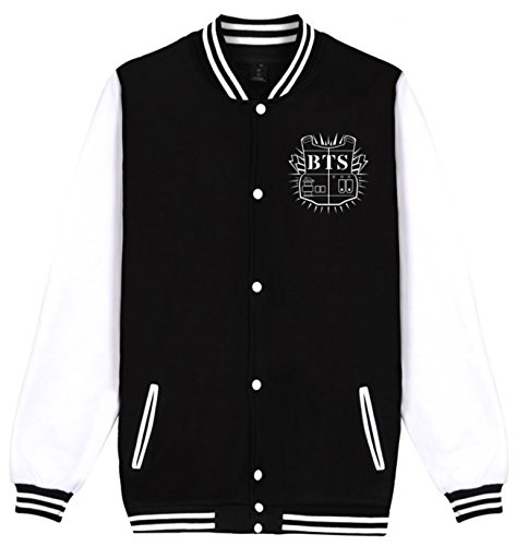 SERAPHY Unisex BTS Kop Hoodies Bangtan Boys BTS Jumper Baseball Jacket Suga Jin JIMIN Jung Kook J-Hope Rap-Monster V Black-93 L