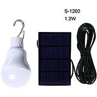 Wildlead Portátiles bombilla solar llevado recargable colgante de la lámpara Inicio de energía de iluminación luces de pesca al aire libre tienda de campaña de senderismo
